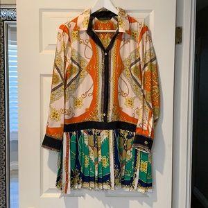 Zara Scarf Print Dress Sz M (Best Fits S)